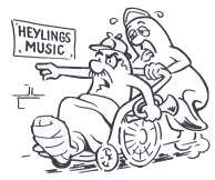a cartoon showing a man with a trumpet determined to get to his music class