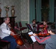 image of students involved in a music lesson